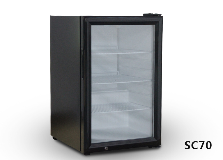 Refrigerated vertical display cabinet