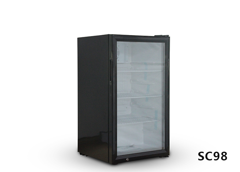 Vertical refrigerated display cabinet